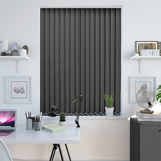 Abel Lead Grey Vertical Blind