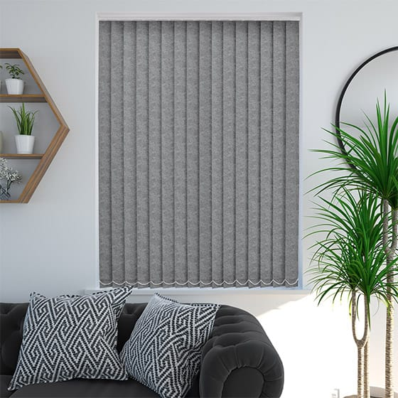 Addison Flannel Grey Vertical Blind
