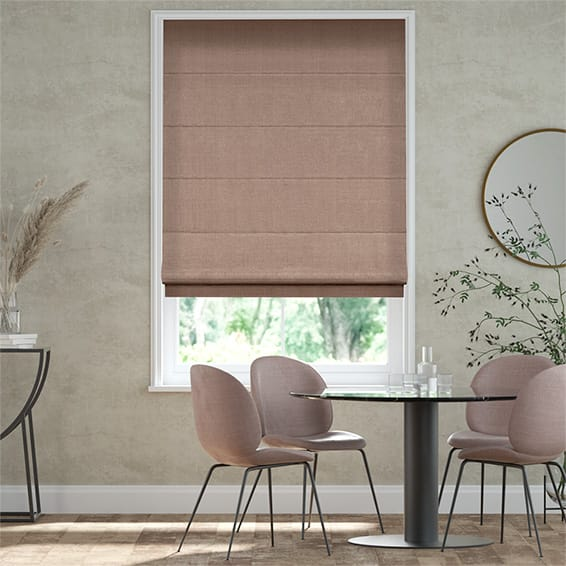 Alberta Linen Barely Rose  Roman Blind