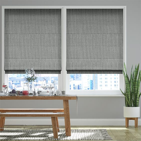 Alberta Linen Iron Grey Roman Blind