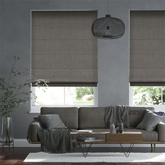 Alberta Linen Manhattan Grey  Roman Blind