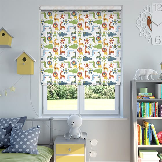 Animal Party Sky Blackout Roller Blind