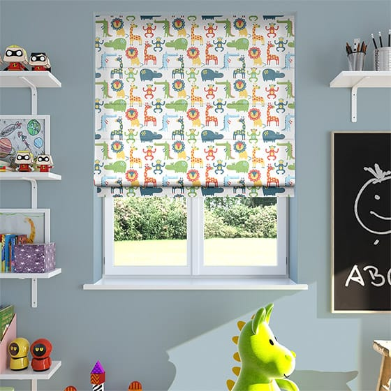 Animal Party Sky Roman Blind