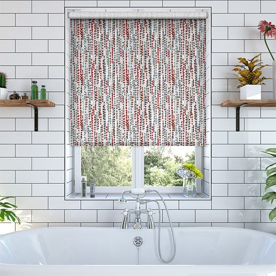 Beads Red Roller Blind