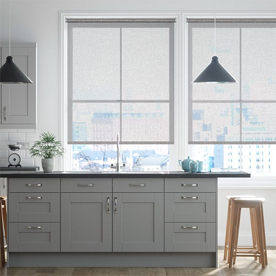 Bliss Voile Grey Roller Blind