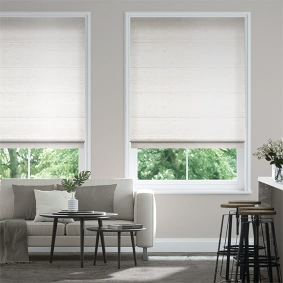 Bormio Faux Silk Cream Roman Blind