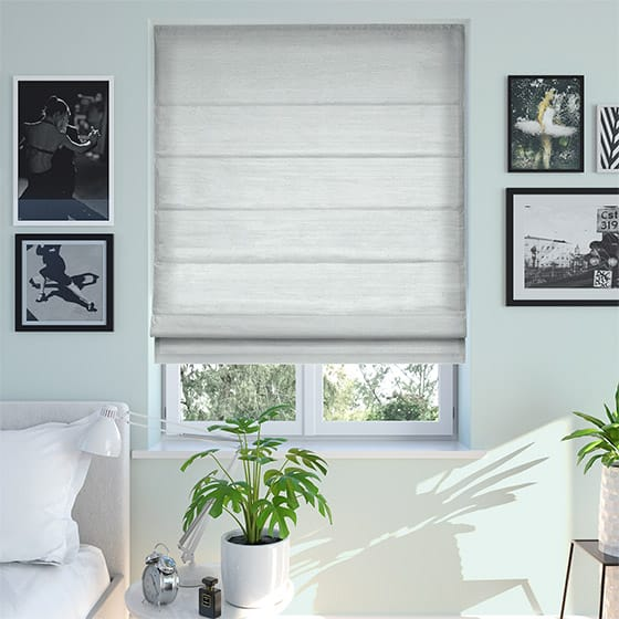 Bormio Faux Silk Fresh Blue Roman Blind