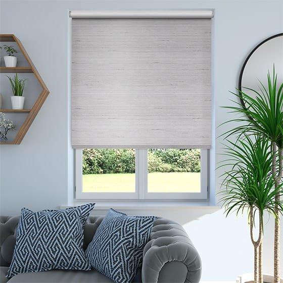 Bormio Faux Silk Quartz Silver Blackout Roller Blind