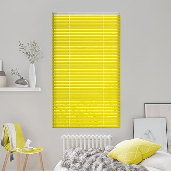 Bright Yellow Venetian Blind