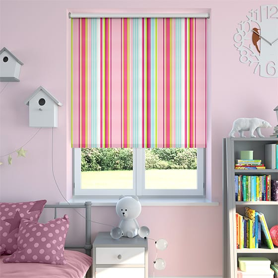 Brighton Candy Pink Blackout Roller Blind