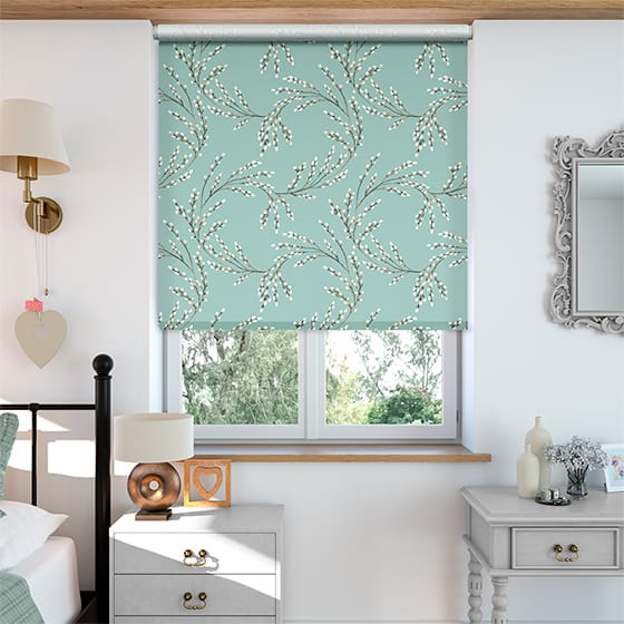 Budding Twigs Duck Egg Roller Blind
