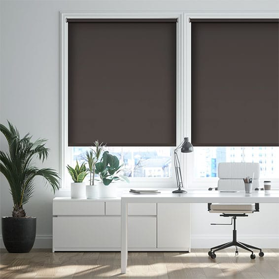 Cannes Blackout Charcoal Roller Blind