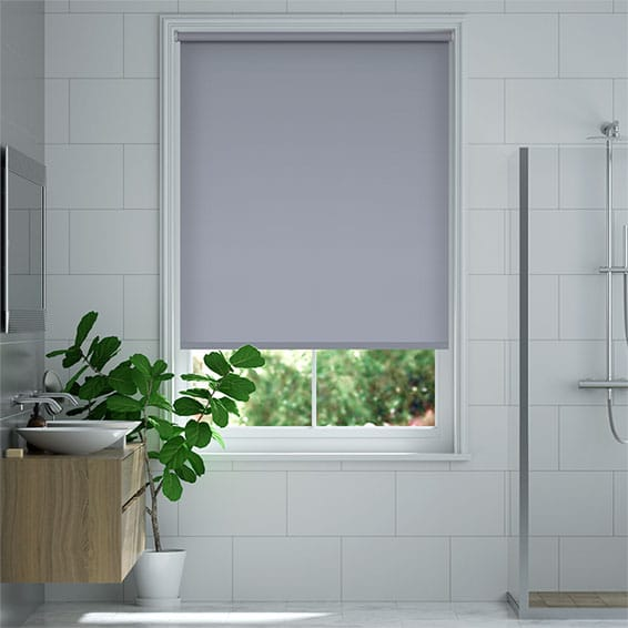 Cannes Blackout Glacier Blue Roller Blind