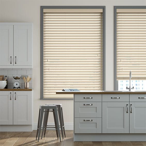 Concept Sand Dune Faux Wood Blind - 50mm Slat