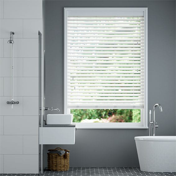Concept Snowball Faux Wood Blind - 50mm Slat