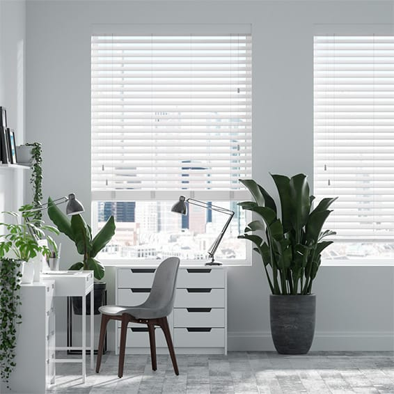 Contempo Pure White Faux Wood Blind