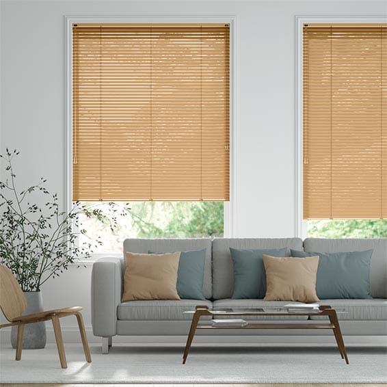 Crackled Gold Venetian Blind