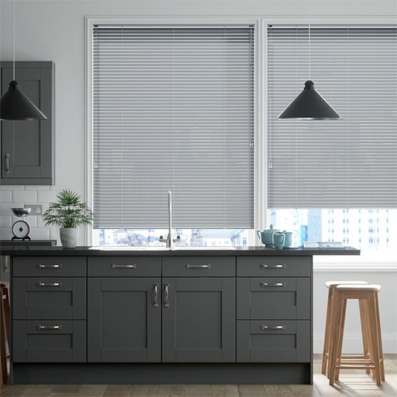 Crackled Silver Venetian Blind