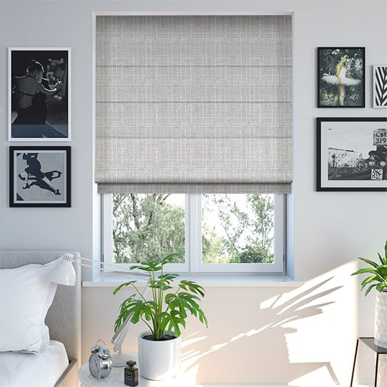 Crepe Light Grey Roman Blind