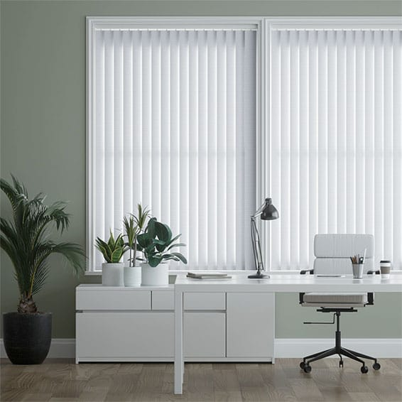 Crimp White Vertical Blind