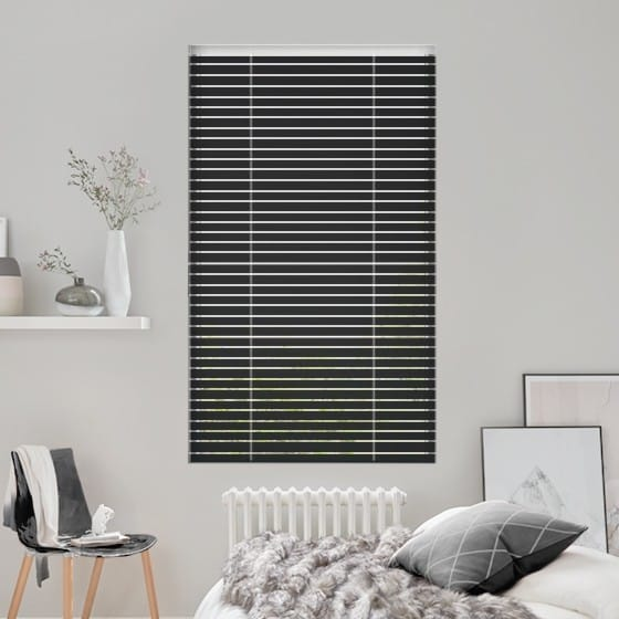 Dark Black Venetian Blind