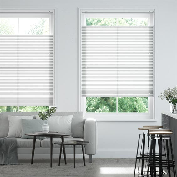 DuoLight Grey Top Down Bottom Up Pleated Blind