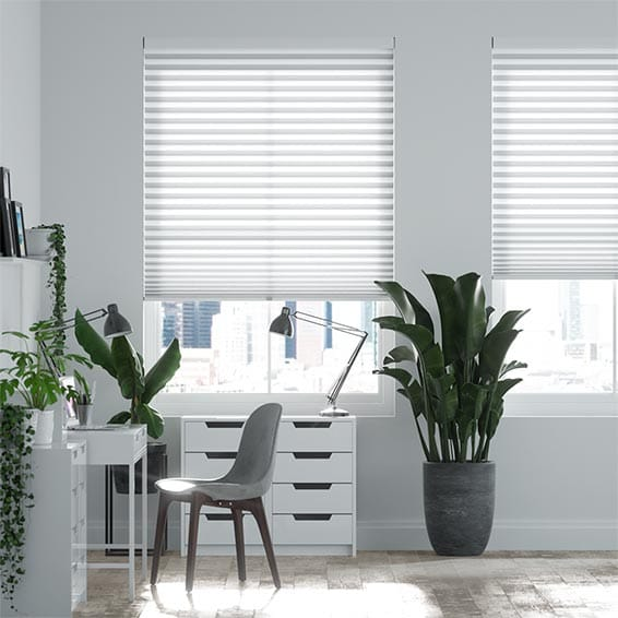 DuoLight-Max Cordless Cotton White Pleated Blind