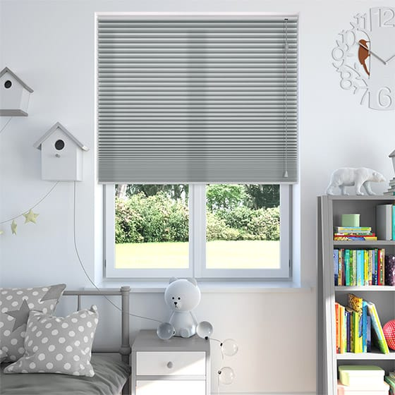 DuoLight™ Nickel Grey Pleated Blind