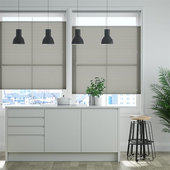 DuoLight Zinc Top Down Bottom Up Pleated Blind