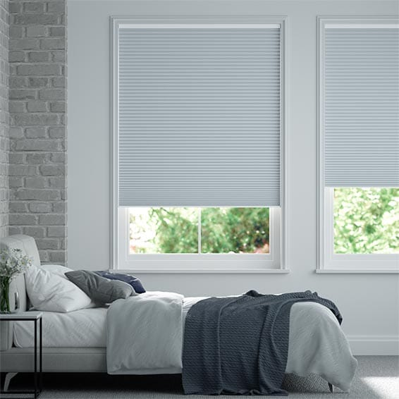 DuoShade Cordless Blue Haze Pleated Blind