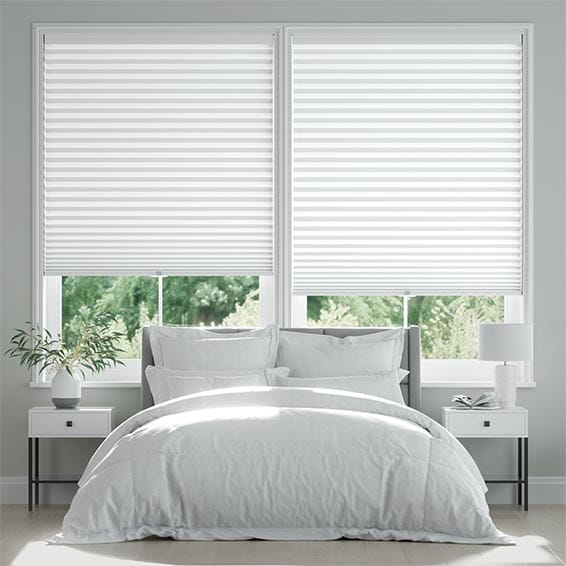 DuoShade-Max Cordless Cotton White Pleated Blind