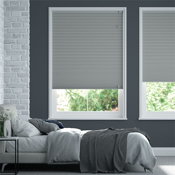 DuoShade™ Nickel Grey Pleated Blind