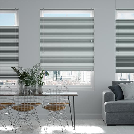 DuoShade Nickel Grey Top Down Bottom Up Pleated Blind
