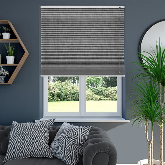 DuoShade™ Grey Weave Pleated Blind