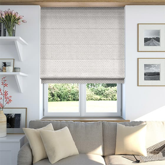 Ecliptic Cool Silver Roman Blind