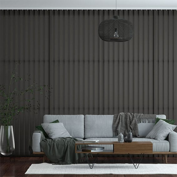 Eden Anthracite Vertical Blind