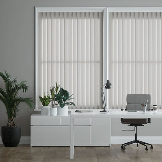 Eden Pale Grey Vertical Blind