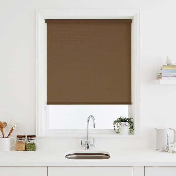Elegant Chocolate Roller Blind