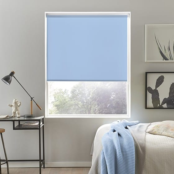 Elegant Powder Blue Roller Blind