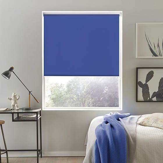 Elegant Royal Blue Roller Blind