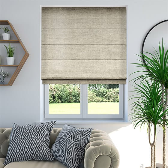 Faux Silk Luxe Bright Gold Roman Blind