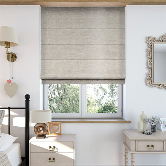 Faux Silk Luxe Pale Gold Roman Blind