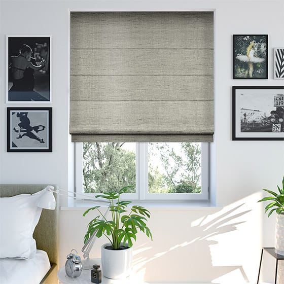 Faux Silk Luxe Pebble Roman Blind