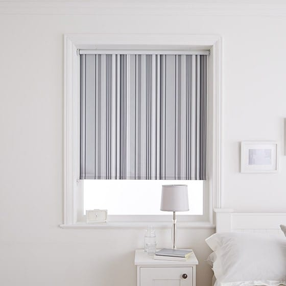 Flint Silver Blackout Roller Blind