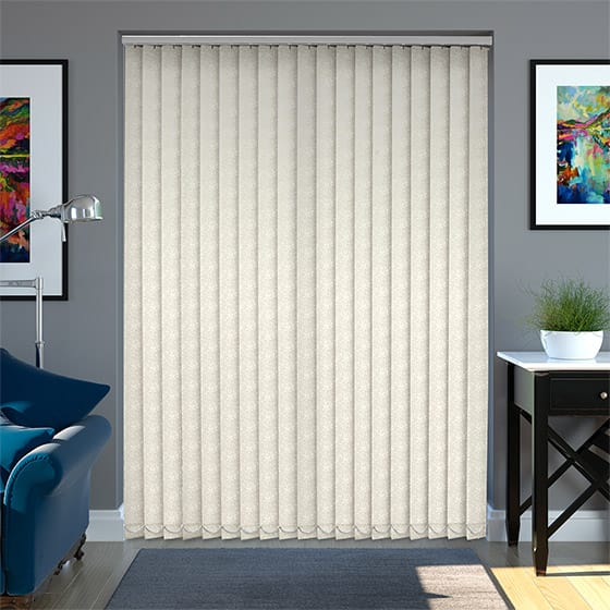 Flowerdew Cloud Cream Vertical Blind