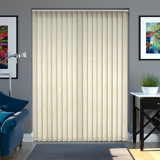 Fray Buttermilk Vertical Blind