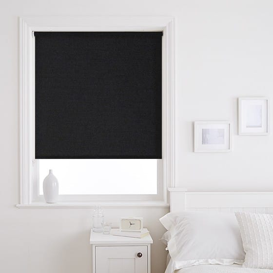 Fresh Black Roller Blind