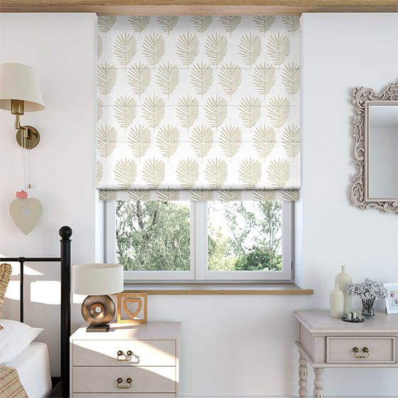 Frond Neutral Roman Blind