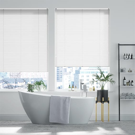 Frosty White Venetian Blind