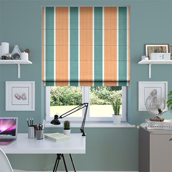 Griddle Pumpkin Roman Blind